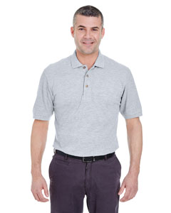 Heather Grey Men's Classic Piqué Polo