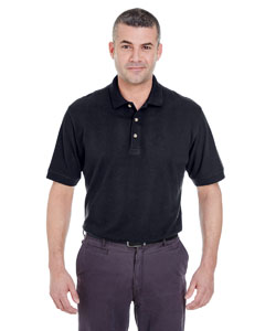 Black Men's Classic Piqué Polo