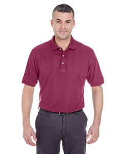 Burgundy Men's Classic Piqué Polo