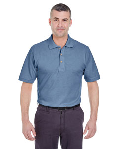 Storm Blue Men's Classic Piqué Polo