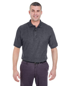 Black Heather Men's Whisper Piqué Polo