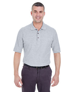 Heather Grey Men's Whisper Piqué Polo