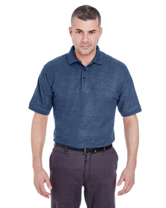 Navy Hthr Men's Whisper Piqué Polo