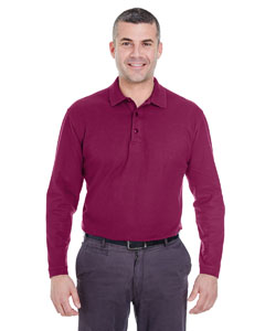 Wine Adult Long-Sleeve Whisper Piqué Polo