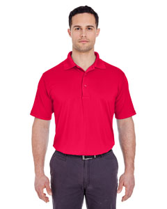 Red Men's Cool & Dry 8 Star Elite Performance Interlock Polo