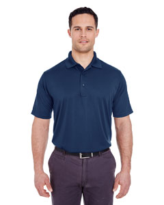 Navy Men's Cool & Dry 8 Star Elite Performance Interlock Polo