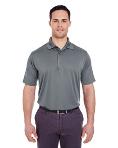 Charcoal Men's Cool & Dry 8 Star Elite Performance Interlock Polo