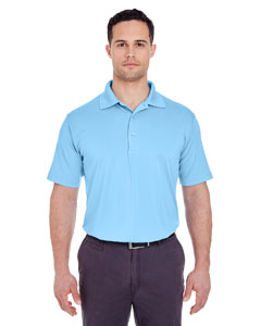Columbia Blue Men's Cool & Dry 8 Star Elite Performance Interlock Polo