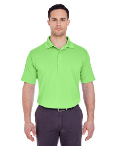 Light Green Men's Cool & Dry 8 Star Elite Performance Interlock Polo