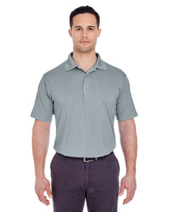 Silver Men's Cool & Dry 8 Star Elite Performance Interlock Polo