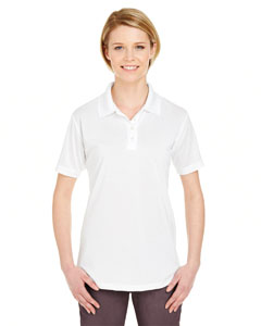 White Ladies' Cool & Dry 8 Star Elite Performance Interlock Polo