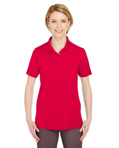 Red Ladies' Cool & Dry 8 Star Elite Performance Interlock Polo
