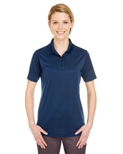 Navy Ladies' Cool & Dry 8 Star Elite Performance Interlock Polo