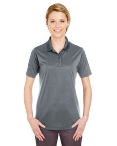 Charcoal Ladies' Cool & Dry 8 Star Elite Performance Interlock Polo