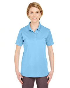 Columbia Blue Ladies' Cool & Dry 8 Star Elite Performance Interlock Polo