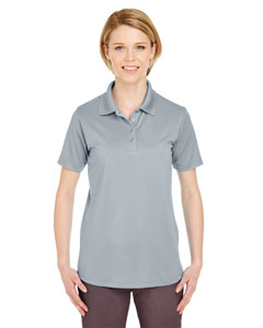 Silver Ladies' Cool & Dry 8 Star Elite Performance Interlock Polo