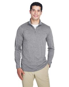Charcoal Heather Men's Cool & Dry Heathered Performance Quarter-Zip