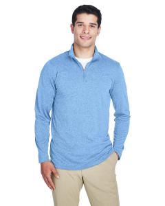 Colmbia Blu Hthr Men's Cool & Dry Heathered Performance Quarter-Zip