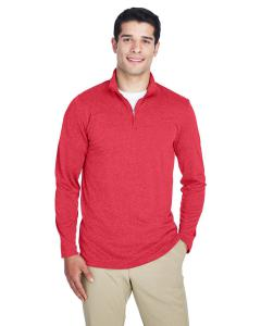 Red Heather Men's Cool & Dry Heathered Performance Quarter-Zip