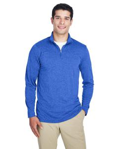 Royal Heather Men's Cool & Dry Heathered Performance Quarter-Zip
