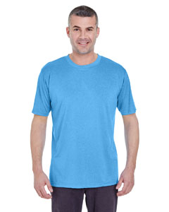 Columbia Blu Hth Men's Cool & Dry Heather Performance Tee
