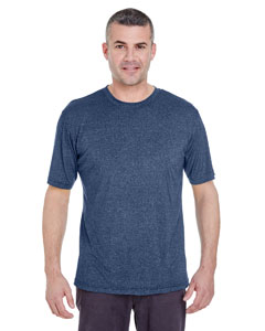 Navy Heather Men's Cool & Dry Heather Performance Tee