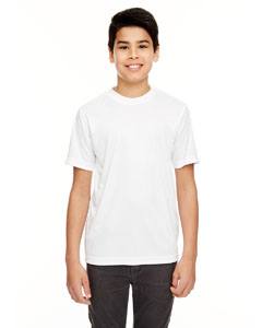 White Youth Cool & Dry Basic Performance T-Shirt