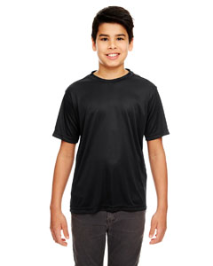 Black Youth Cool & Dry Basic Performance T-Shirt