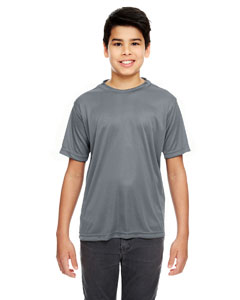 Charcoal Youth Cool & Dry Basic Performance T-Shirt