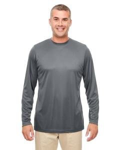 Charcoal Men's Cool & Dry Performance Long-Sleeve Top