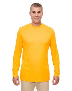 Gold Men's Cool & Dry Performance Long-Sleeve Top