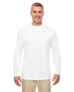 White Men's Cool & Dry Performance Long-Sleeve Top