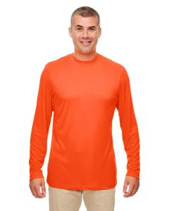 Bright Orange Men's Cool & Dry Performance Long-Sleeve Top