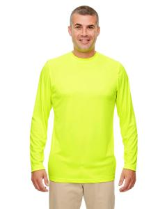 Bright Yellow Men's Cool & Dry Performance Long-Sleeve Top