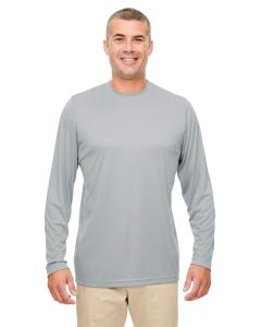 Grey Men's Cool & Dry Performance Long-Sleeve Top