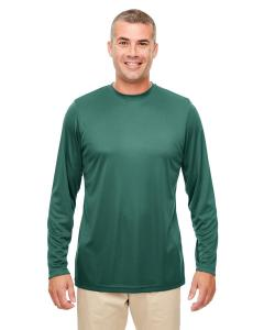 Forest Green Men's Cool & Dry Performance Long-Sleeve Top