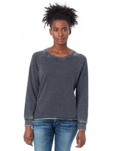 Washed Black Ladies' Lazy Day Pullover