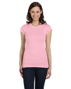 Pink Women's Sheer Mini Rib Short-Sleeve T-Shirt