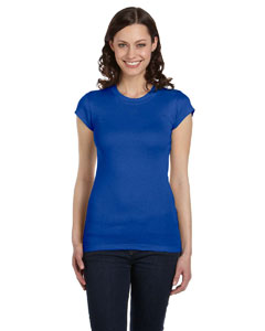 True Royal Women's Sheer Mini Rib Short-Sleeve T-Shirt