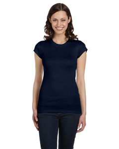 Midnight Women's Sheer Mini Rib Short-Sleeve T-Shirt
