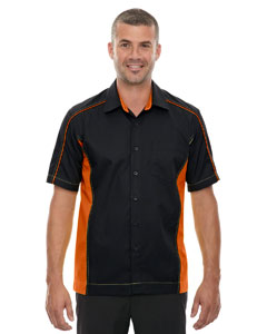 Black/ Ornge 468 Men's Fuse Colorblock Twill Shirt