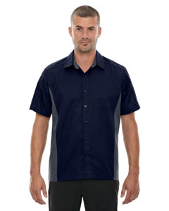 Classic Navy 849 Men's Fuse Colorblock Twill Shirt