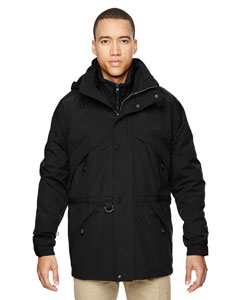 Black 703 Men's 3-in-1 Parka with Dobby Trim