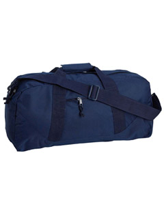 Navy Game Day Large Square Duffel