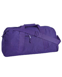 Purple Game Day Large Square Duffel