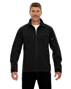 Black 703 Men's Three-Layer Fleece Bonded Performance Soft Shell Jacket