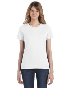 White Women's Fashion Ringspun T-Shirt