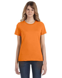 Mandarin Orange Women's Fashion Ringspun T-Shirt