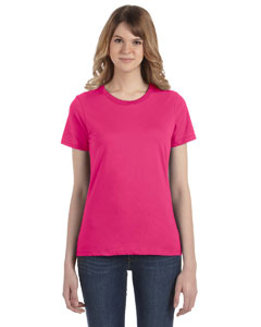 Hot Pink Women's Fashion Ringspun T-Shirt