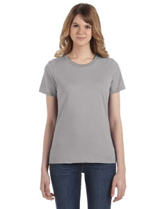 Silver Women's Fashion Ringspun T-Shirt